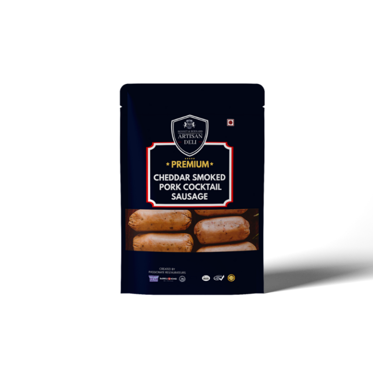 Cheddar Smoked Pork Cocktail Sausage
