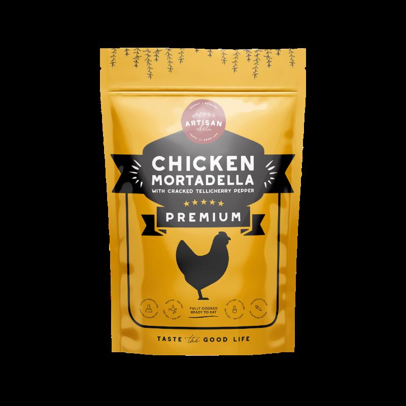 Chicken Mortadella with Cracked Tellicherry Pepper 200 gms